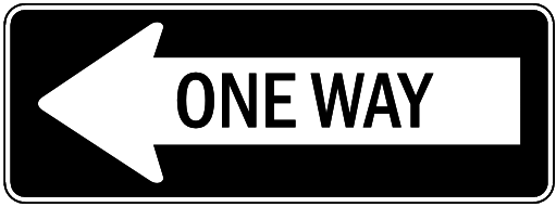 One Way   Http   Www Wpclipart Com Travel Us Road Signs Regulation Reg