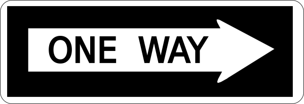 One Way Sign 2 Clip Art At Clker Com   Vector Clip Art Online Royalty