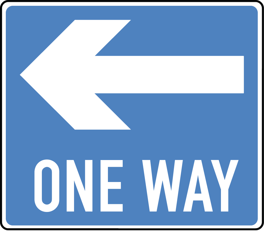 One Way Sign   Clipart Best