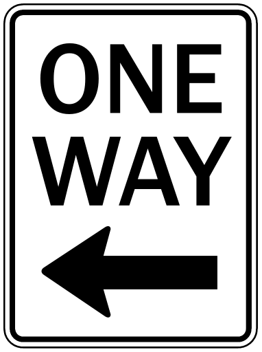 One Way Sign Image   Clipart Best