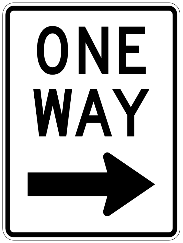 One Way Sign Right   Http   Www Wpclipart Com Page Frames Full Page