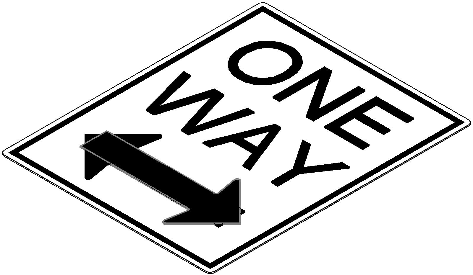One Way Signs   Clipart Best