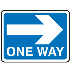 One Way Traffic Sign   Clipart Best
