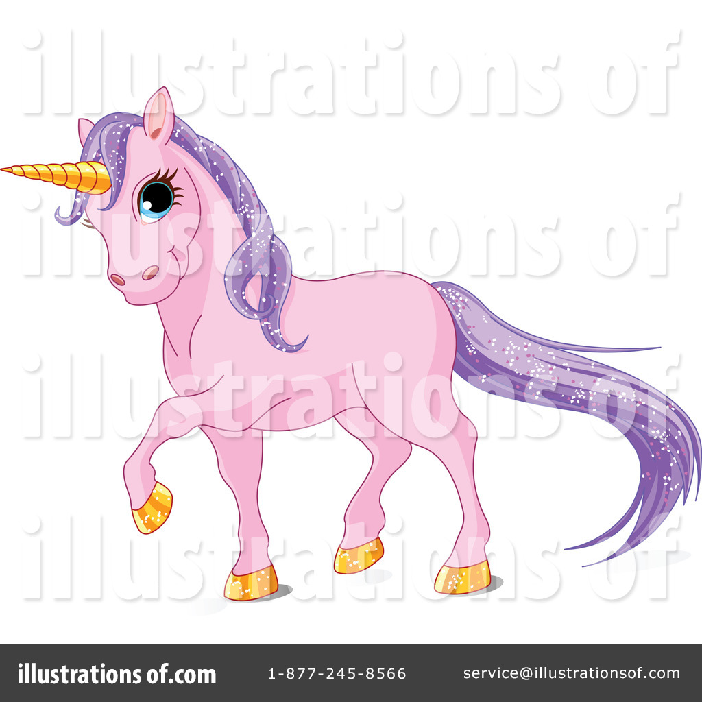 Royalty Free  Rf  Unicorn Clipart Illustration By Pushkin   Stock