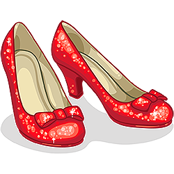 Dorothy's Red Slippers Clipart - Clipart Kid