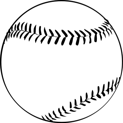 Baseball Outline    Recreation Sports Baseball Ball Baseball Outline