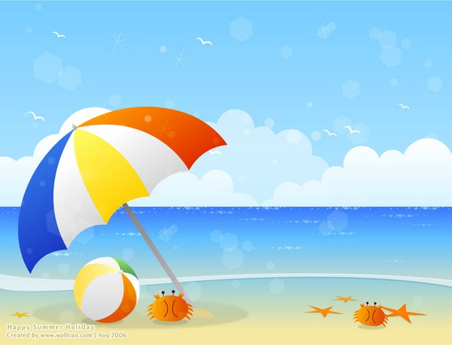 Summer Scene Cl... Free Holiday Banner Clip Art