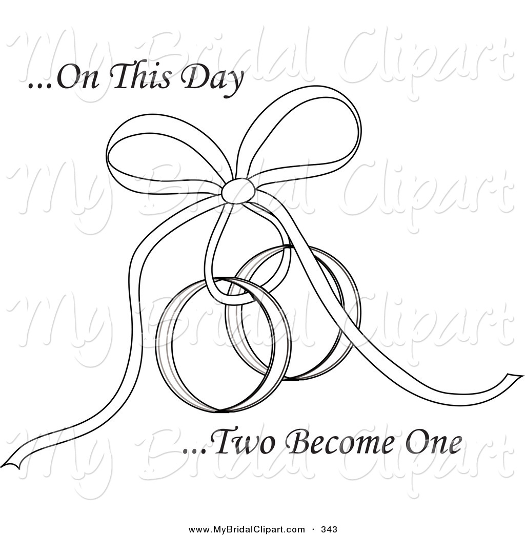 Bridal Clipart Of A Coloring Page Of On This Day Two Become One Text