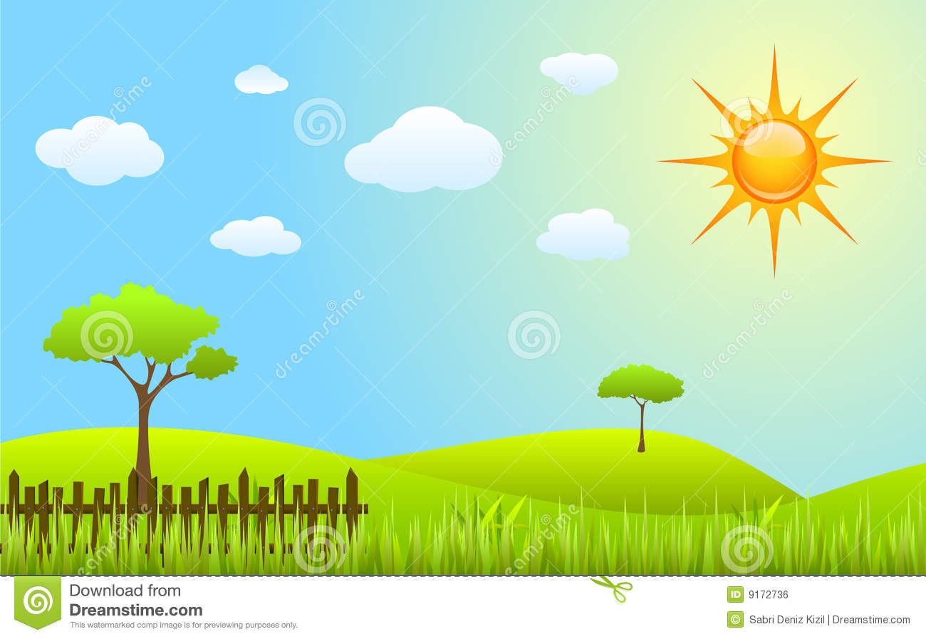 Spring Scenes Clipart - Clipart Kid