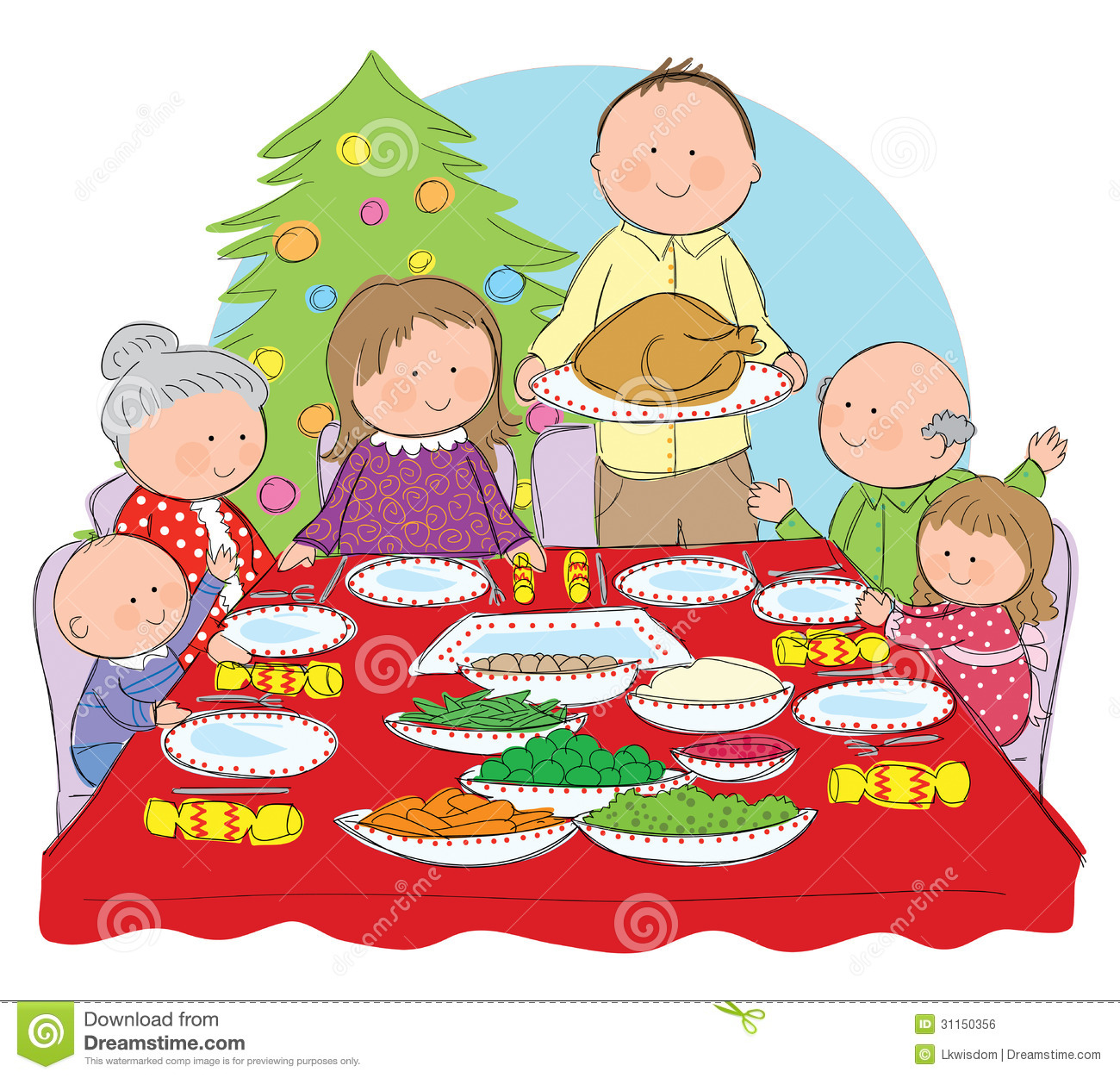 Christmas Dinner Royalty Free Stock Image   Image  31150356