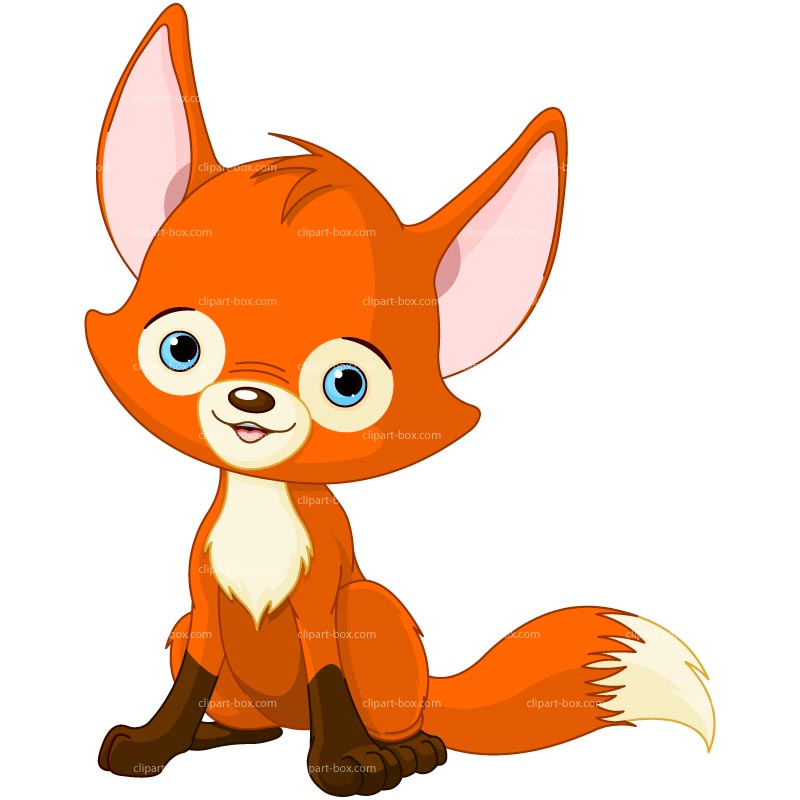 Clipart Cute Fox   Royalty Free Vector Design