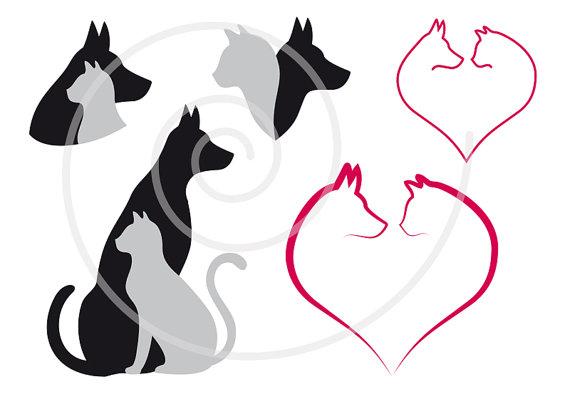 Clip Art Outline Of Pets Clipart Clipart Suggest