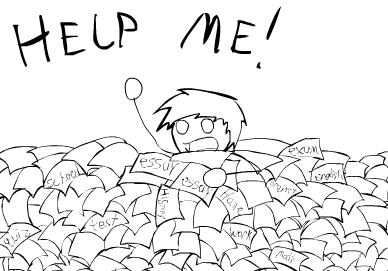 Drowning In Homework By Johnnywhoa On Deviantart