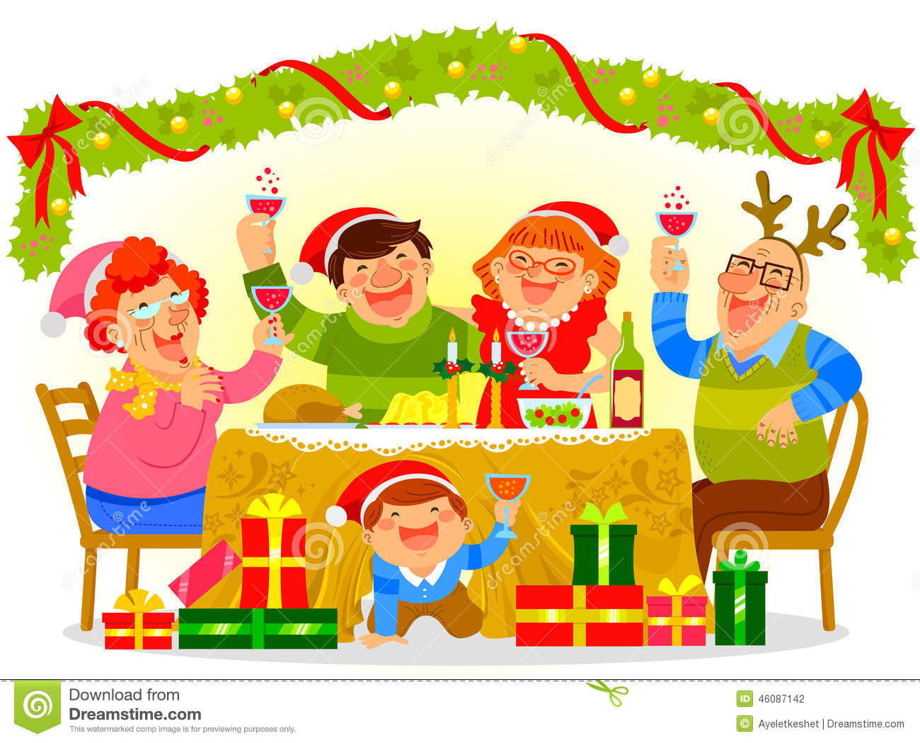 clipart christmas dinner pictures - photo #3