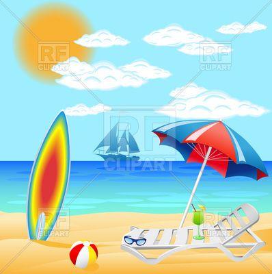 Free Clip Art Beach Scenes   Clipart Catalog Travel Sea       Craft I