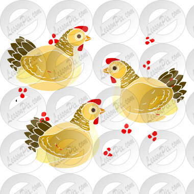 French Hens Clipart French Hens Stencil