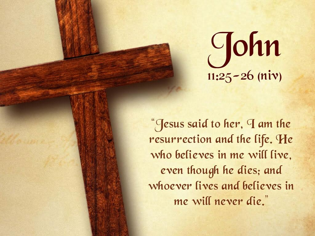 John 11 Bible Verse About Jesus Words About Life Photo With Cross