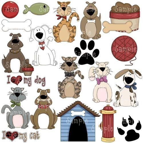Love My Pet Cat Dog Clipart Graphics By Embroiderygirl On Etsy