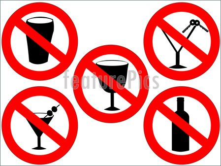 No Alcohol Signs Illustration