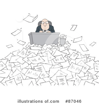 Paperwork Clipart  87046 By Alex Bannykh   Royalty Free  Rf  Stock
