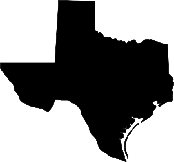 State Of Texas Vector Clip Art