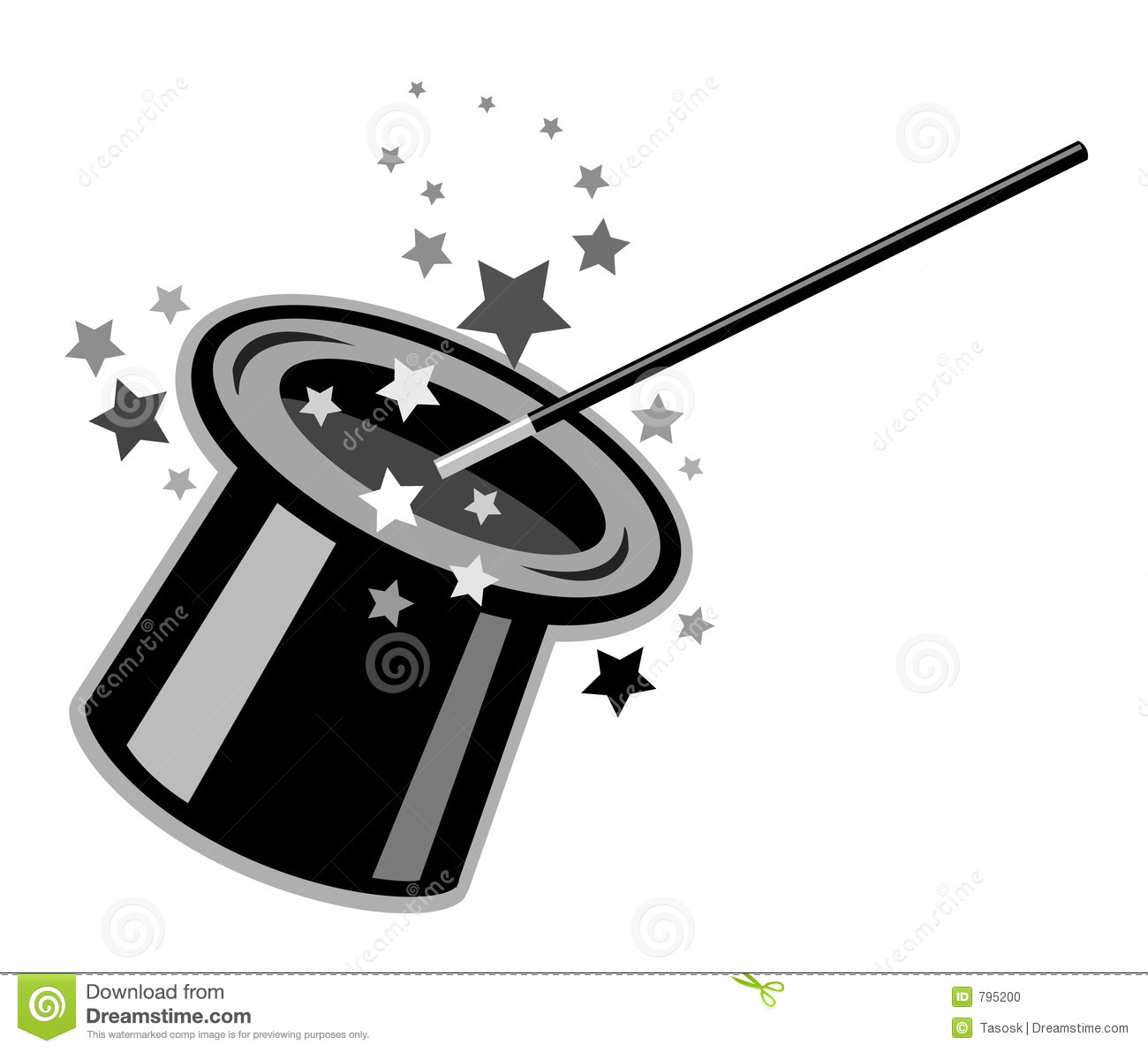 Clip Art Black And White Magic Clipart - Clipart Suggest