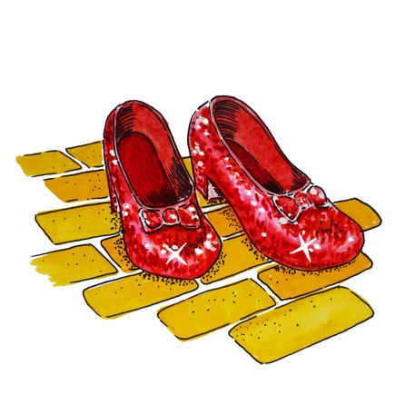 Wizard Of Oz   Dorothy S Ruby Slippers Painting Art Prints And