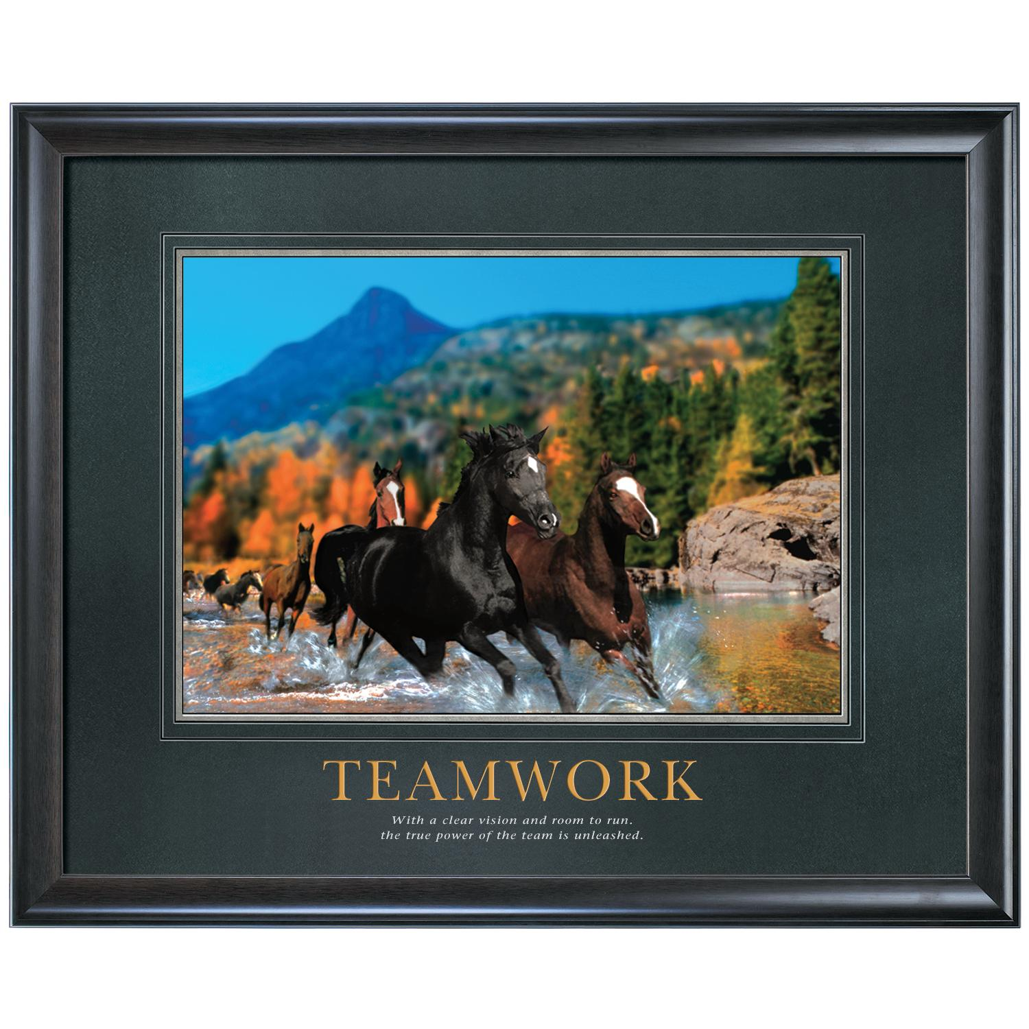 And Sale Center   Teamwork Horses Motivational Poster By Successories