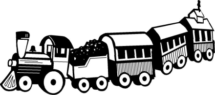 Toy Train Black And White Clipart - Clipart Kid