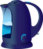 Blue Kettle   Clipart Graphic