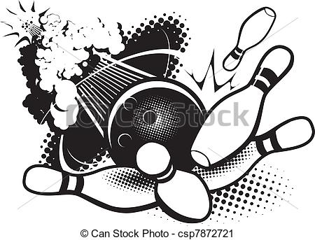 Bowling Ball Breaking The Sound    Csp7872721   Search Clipart