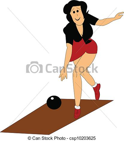 Bowling Illustration Of Lady Throwing    Csp10203625   Search Clipart