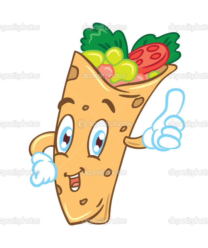 Burrito Clipart Depositphotos 38219395 Cartoon Burrito Jpg
