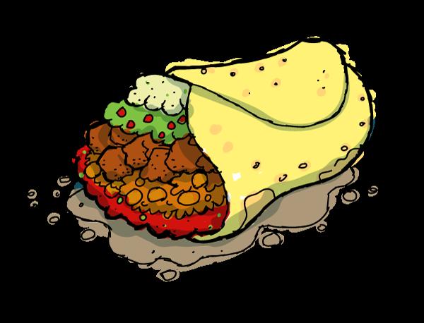 Burrito Clipart - Clipart Kid