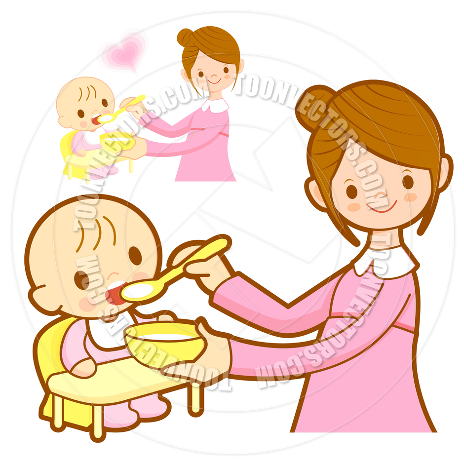 baby eating clipart - photo #2