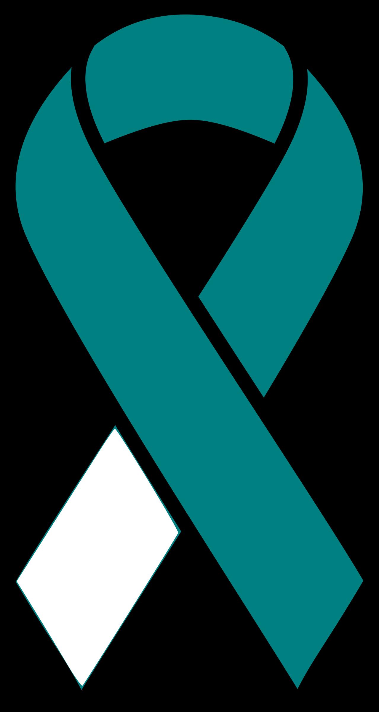 Cervical Cancer Ribbon By Barnheartowl