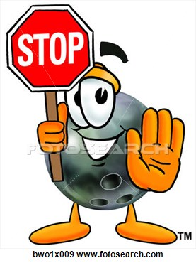 Clip Art   Bowling Ball Holding Stop Sign  Fotosearch   Search Clipart