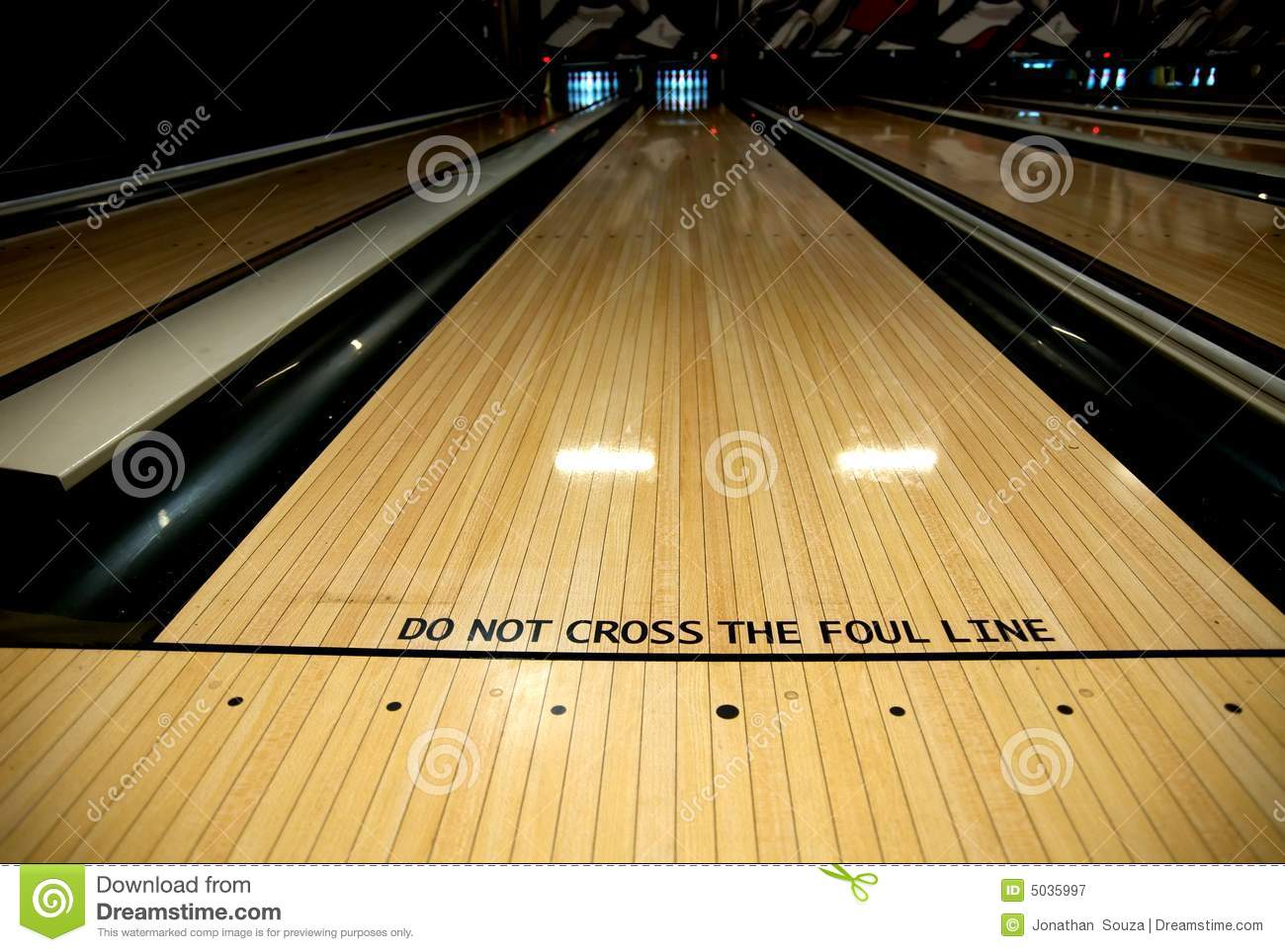 Foul Line At Bowling Alley Royalty Free Stock Photography   Image