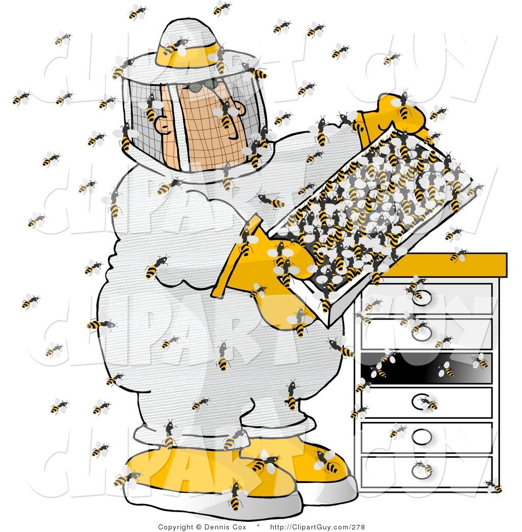 Vintage Bee Hive Clipa...