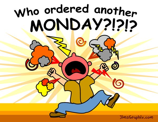 Its Monday Clip Art Funny Monday Cartoons Funny Clip Art   Angry Man