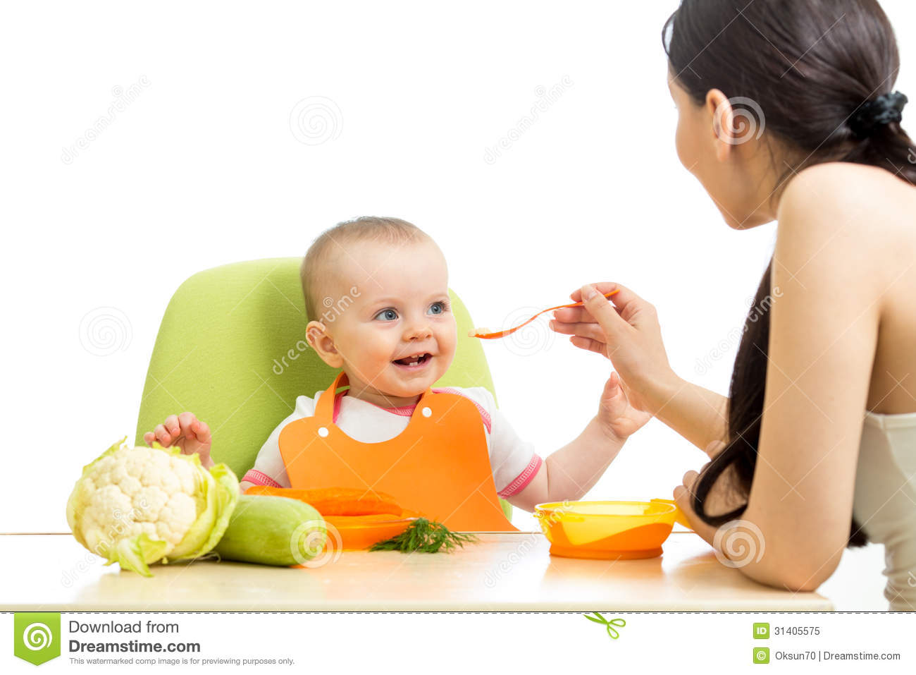 Mother Feeding Baby Girl Royalty Free Stock Photo   Image  31405575