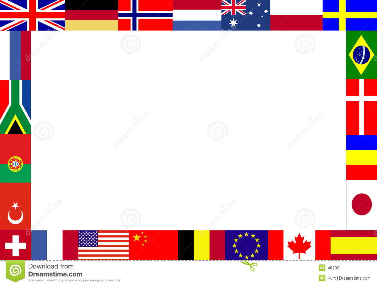 Multiple Flags Frame Stock Photos   Image  46703
