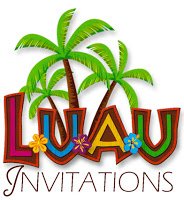 Party Planning Center  Free Printable Hawaiian Luau Party Invitations