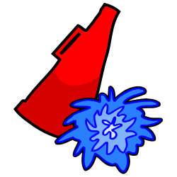 Red Cheerleader Clipart - Clipart Kid