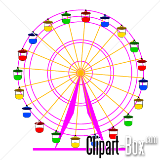 Related Funfair Wheel Cliparts