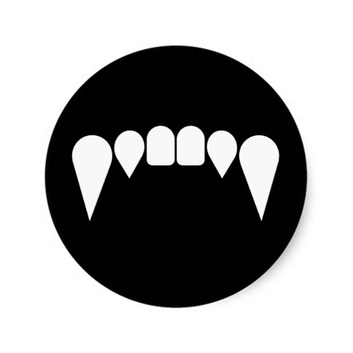 Sharp Teeth Smile Vampire Fangs Wolf Fangs Sharp Teeth Grrr Sticker