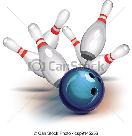 View   Bowling Ball Crashing Into The    Csp9145256   Search Clipart