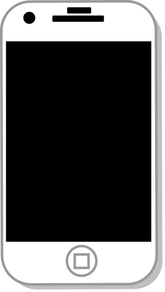 White Iphone Clip Art At Clker Com   Vector Clip Art Online Royalty