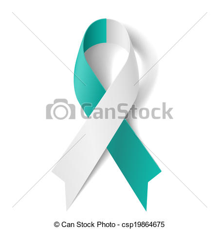 White Ribbon As Symbol Of Cervical Cancer Csp19864675   Search Clipart