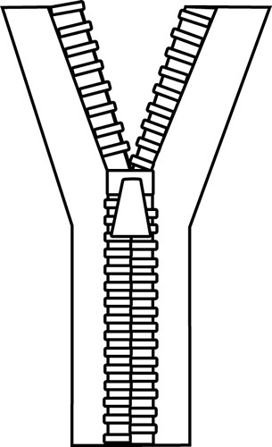 Zipper Black White Zipper Clip Art